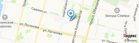 Кабачок на Садовой на карте Архангельска