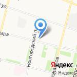 Парусок на карте Архангельска