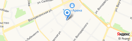 Сейвал на карте Архангельска