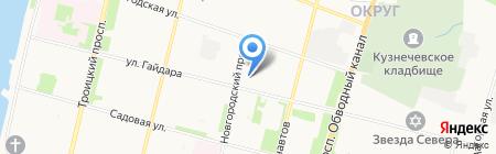 Детский сад №180 Парусок на карте Архангельска