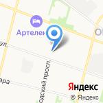 На Вологодской на карте Архангельска