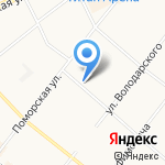 Феликс на карте Архангельска