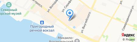 Север Гранд на карте Архангельска