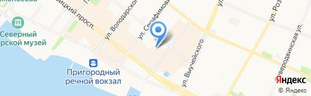 Адвокатский кабинет Сивцова М.Ю. на карте Архангельска