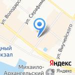 Галерея на карте Архангельска