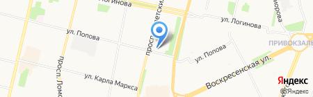 Магазин женской одежды на ул. Попова на карте Архангельска