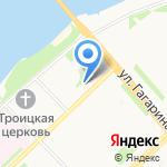 Обувная мастерская на карте Архангельска