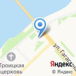 Бумрыба на карте Архангельска