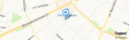 Норд Коммерц на карте Архангельска