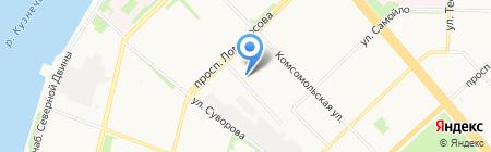 ВАЗ на Карельской на карте Архангельска