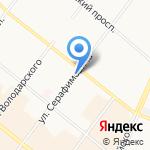 Бетта на карте Архангельска