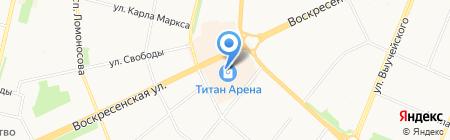 Клинок на карте Архангельска