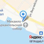 Часовня Матроны Московской на карте Архангельска