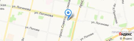Петровский на карте Архангельска
