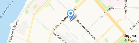 По-итальянски на карте Архангельска