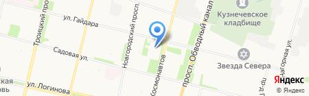 Средняя общеобразовательная школа №11 на карте Архангельска