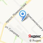 Элион на карте Архангельска
