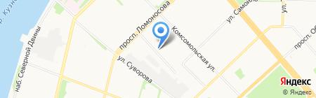 Рица на карте Архангельска