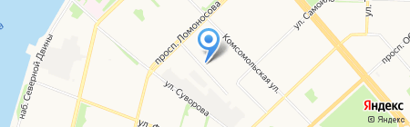 Женева на карте Архангельска