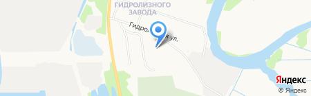 Гидролизный на карте Архангельска