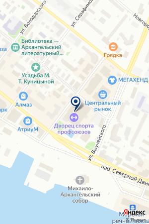 БАНК СГБ на карте Архангельска