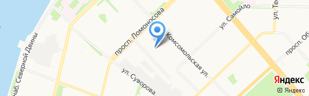 Весь Мемориальный Комплекс на карте Архангельска