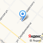 Лукрум на карте Архангельска