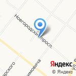 Айсберг на карте Архангельска
