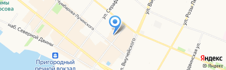 Малые Корелы на карте Архангельска
