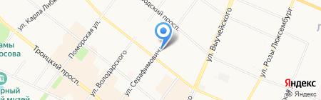 Город на Двине на карте Архангельска