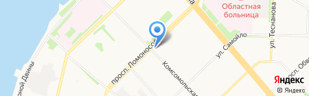 Жасмин на карте Архангельска