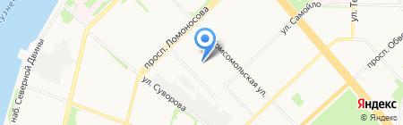 Мотель на Карельской на карте Архангельска