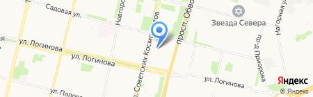 Бэлио на карте Архангельска