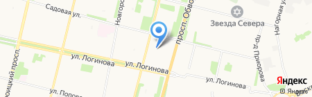 Мой бухгалтер на карте Архангельска
