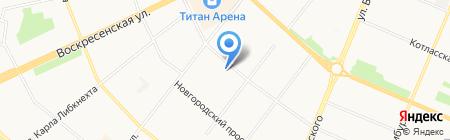 Средняя общеобразовательная школа №22 на карте Архангельска