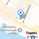 Северное морское пароходство на карте Архангельска