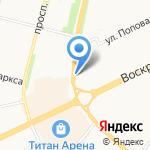 Булочная на карте Архангельска
