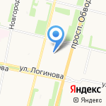 Арена на карте Архангельска