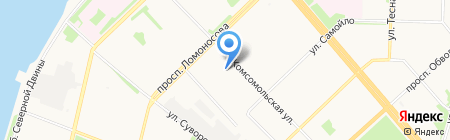 Архземпредприятие на карте Архангельска