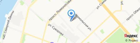 Городская станция ремонта автомобилей на карте Архангельска