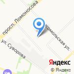 Авто Джин на карте Архангельска