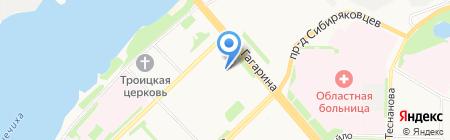 Поморская Столица на карте Архангельска