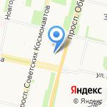 Джем на карте Архангельска