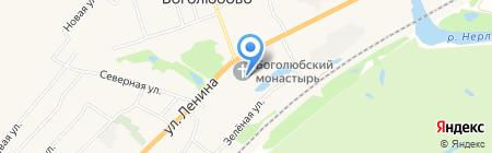 Православный Свято-Боголюбский женский монастырь на карте Боголюбово