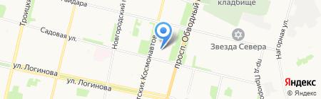 УК ДомоУправление на карте Архангельска