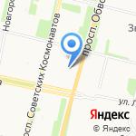 Пять Шагов на карте Архангельска