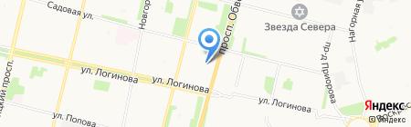 Архангельск на карте Архангельска