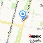 Магазин текстиля и одежды на карте Архангельска