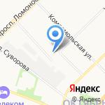Палитра на карте Архангельска