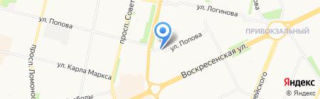 Инженерная сантехника на карте Архангельска